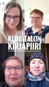 neljä henkilöä Messenger-videopuhelussa.